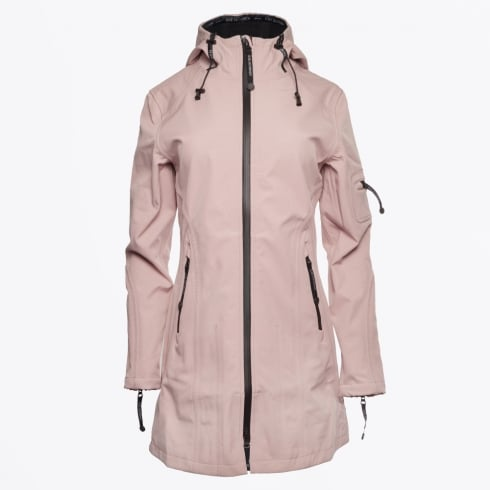 Ilse Jacobsen - Rain7 3/4 Length Raincoat - Adobe Rose