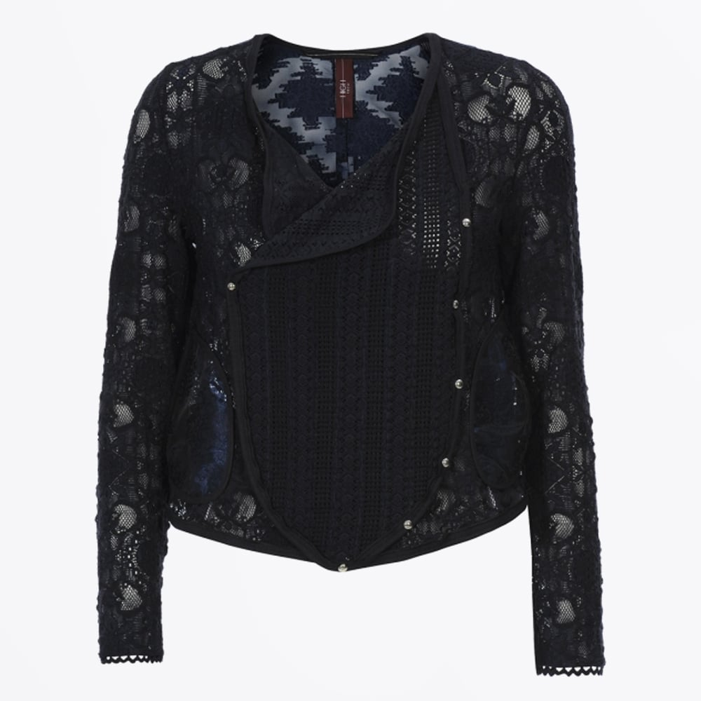 7a67bcf902062 High-Introduce Lace   Embroidered Jacket-Navy-Mr   Mrs Stitch