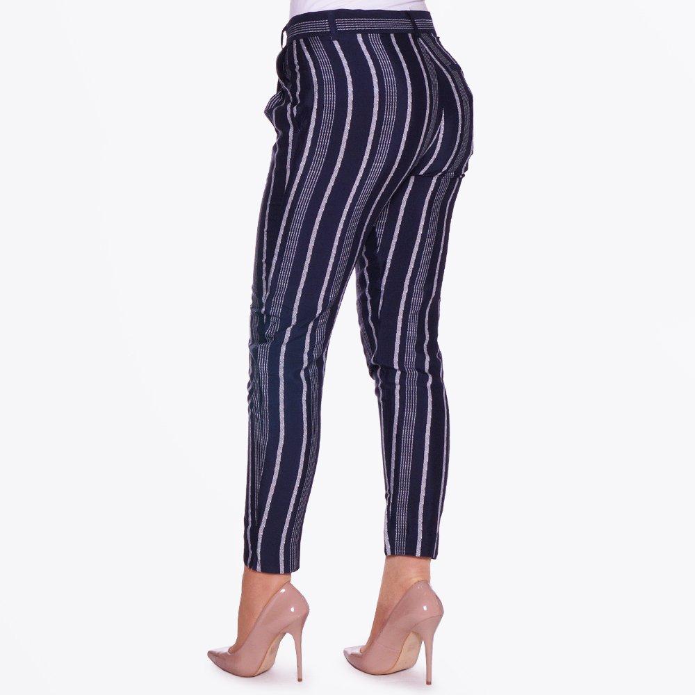 Berlipr Stripe Soft Trousers | Pants For women