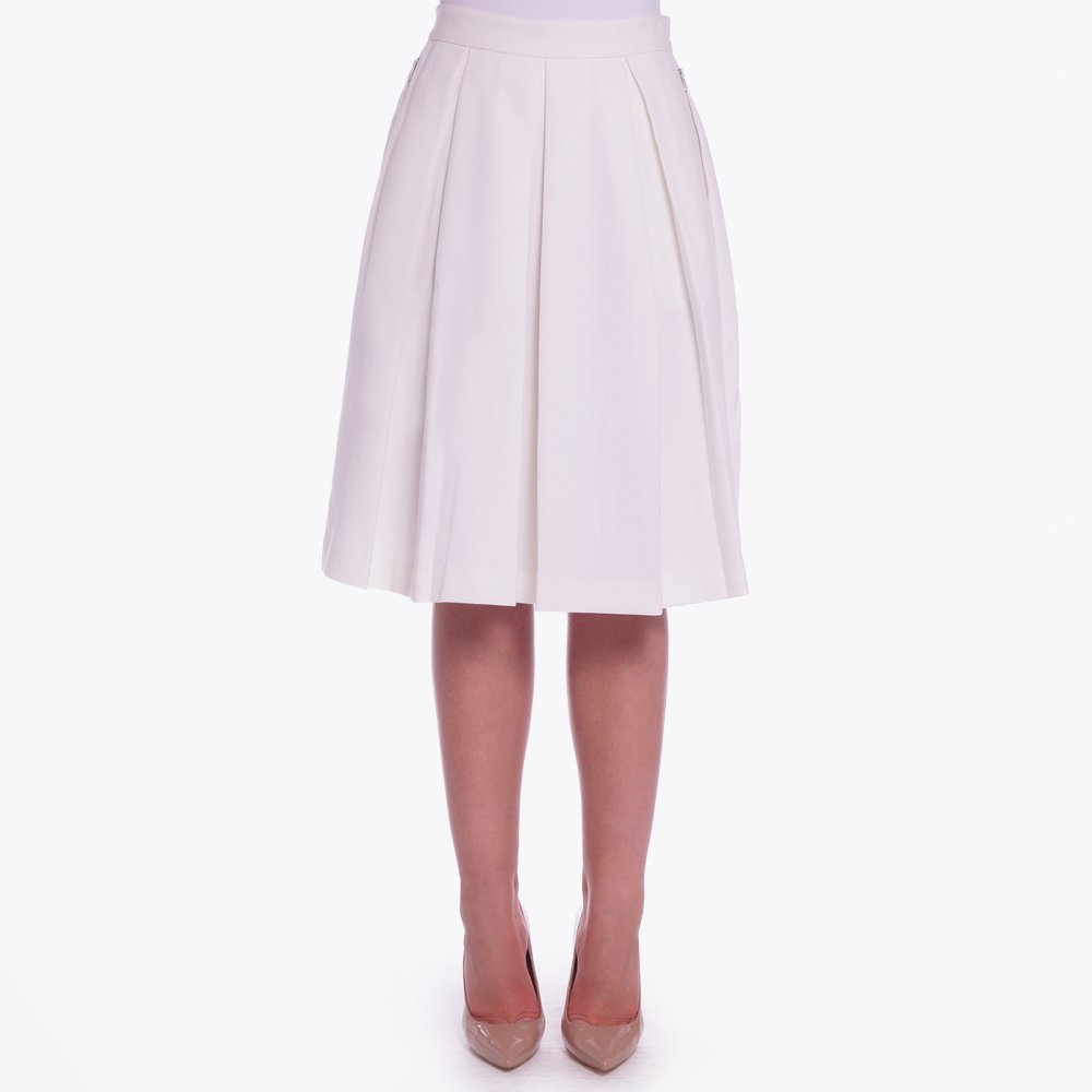mollya n skirt pleated knee length white pleated skirt