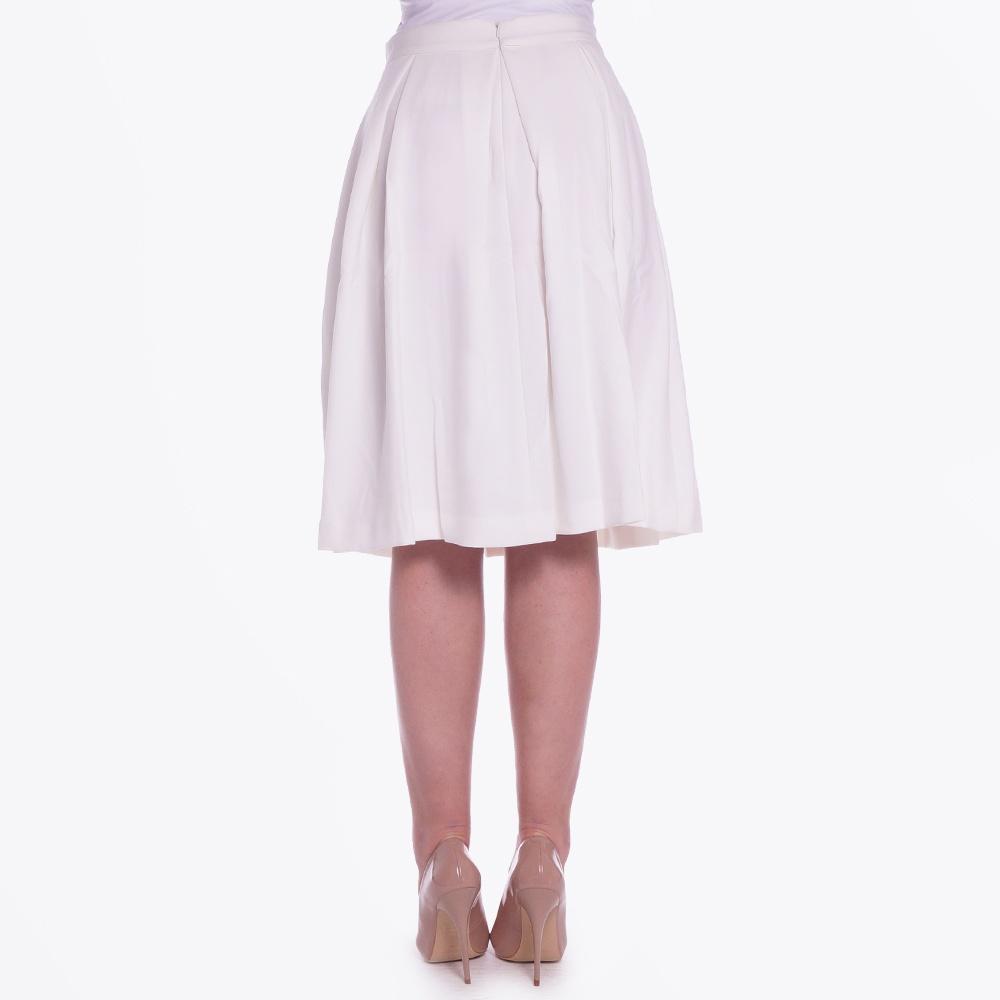 mollya n skirt pleated knee length white pleated skirt