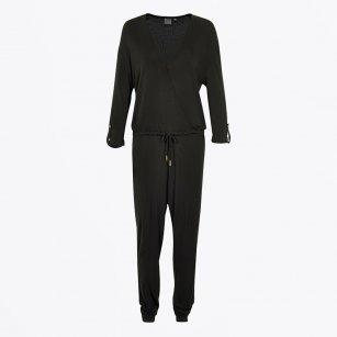| Utopia Black Jumpsuit | Tie Waist