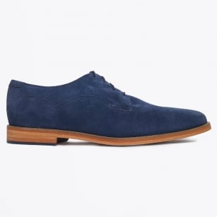   Indi Silky Cow Suede Shoes - Pea Coat Blue