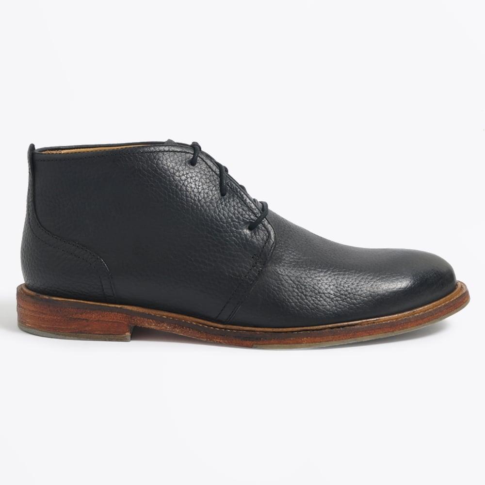 monarch cow leather chucka boots black mens shoes j