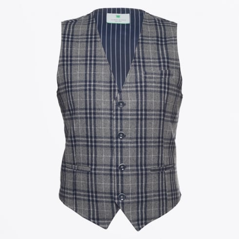 Jackett & Sons - Checked Waistcost - Grey
