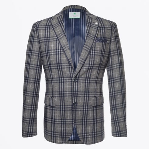 Jackett & Sons - Colbert Check Blazer - Grey