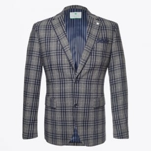 - Colbert Check Blazer - Grey