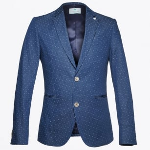 | Denim Look Blazer - Blue