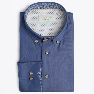 | Denim Shirt With Paisley Trim - Denim