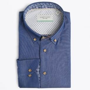 | Denim Shirt With Paisley Trim - Denim