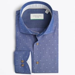 | Small Woven Detail Shirt - Indigo