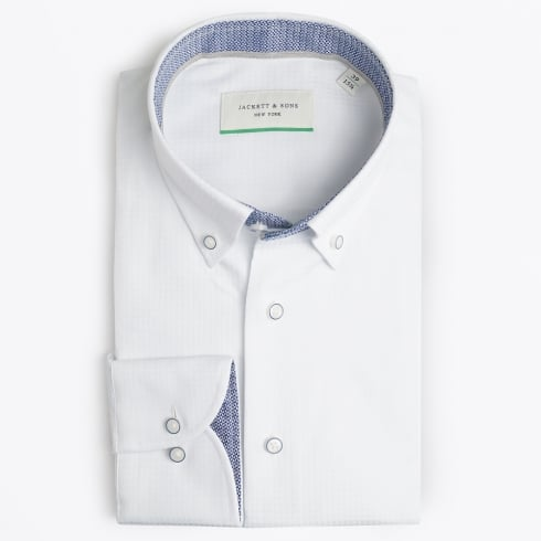 Jackett & Sons - Square Woven Shirt - White