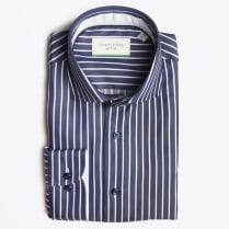 - Stripe Shirt - Navy/White