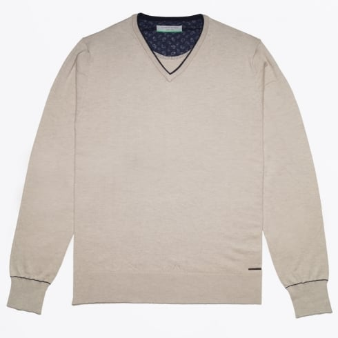 Jackett & Sons - V Neck Knit - Sand