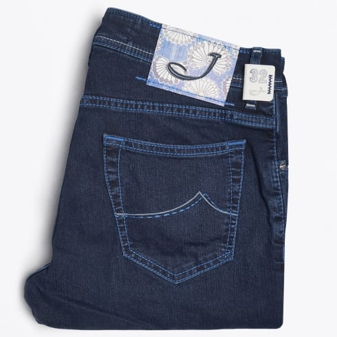 Jacob Cohen - J622 Comfort Low Rise - Dark Indigo Wash