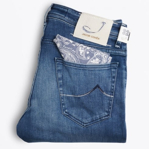 Jacob Cohen - J622 Comfort Low Rise - Light Blue Wash