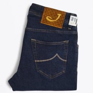 | J622 Low Rise Coloured Label Jeans - Dark Indigo