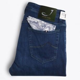 | J688 Comfort High Rise - Dark Blue/Green Stitching