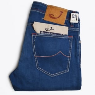 - PW622 Comfort Mid Rise Jeans - Blue