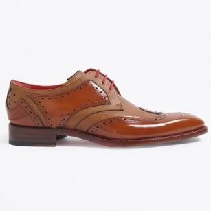 | Bracket Two Tone Brogue Shoe - Honey