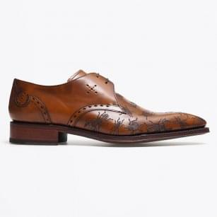 - Burnished Laser Bug Brogues - Tan