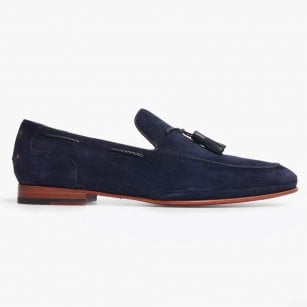 - Croste Suede Loafer - Dark Blue
