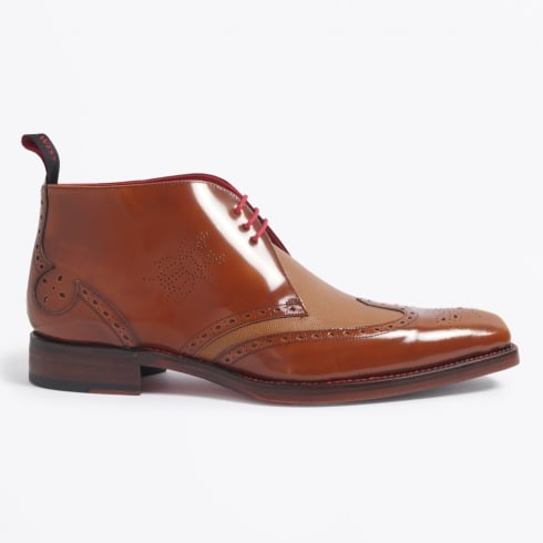 Jeffery West - Dexter - Ricochet Lance Wing Tip Chukka Boot - Honey