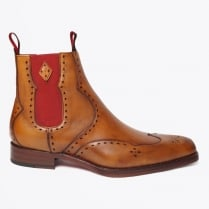 - Novikov Dexter Burnished Calf Leather Boots - Mahogany