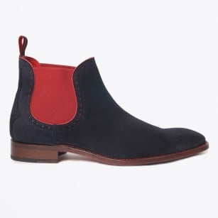 - Tombland Libertine Suede Boots - Navy