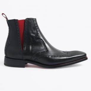 | Insomnia Red Stitch Brogue Boot - Black