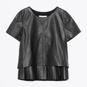 | Jive Leather Trim Top - Black