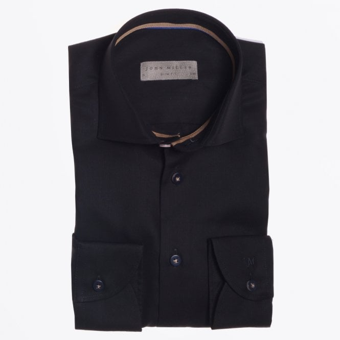 John Miller - Button Detail Shirt - Black