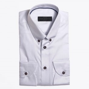 - Cotton Button-down Shirt - White