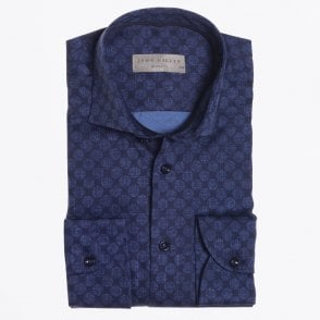 - Printed Dot Shirt - Navy