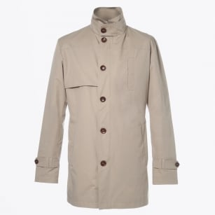 - Coccotti Mid Length Trench Coat - Sand
