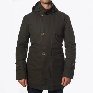 | Parkinson Olive Green Parka | Detachable Hood