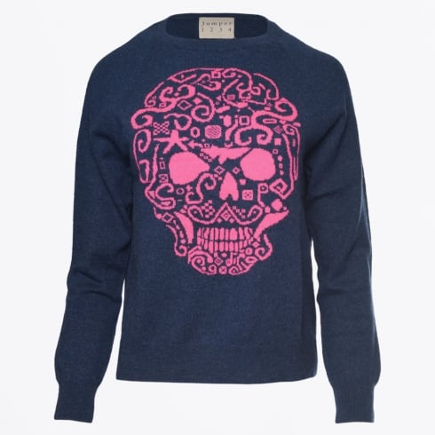 Jumper 1234 - Skull Sweater - Navy
