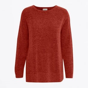 - Alpaca Knit Pullover - Red