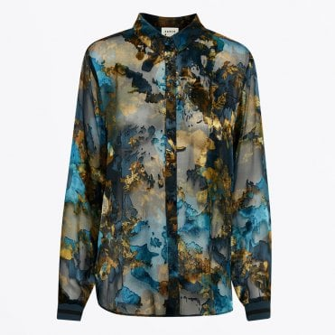 - Erica Printed Shirt - Teal