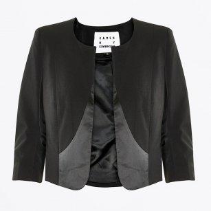 | Frantic 3/4 Length Short Jacket - Black