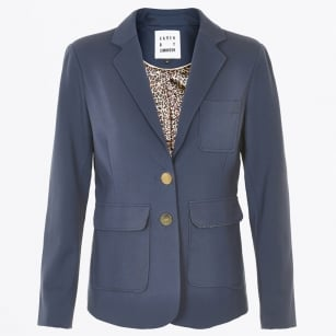 | Link Classic Blazer With Gold Buttons - Navy