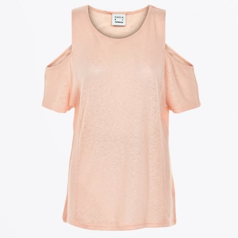 Karen By Simonsen - Neon Open Shoulder Tee - Cameo Rose