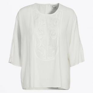| Nomad Embroidered Top - Snow White