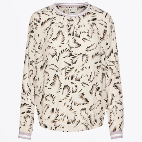 Karen By Simonsen - Printed Tax Blouse - Cream