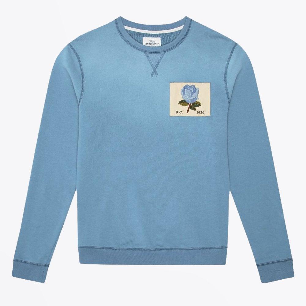e9f2dda3789 Kent & Curwen - Rose Patch Sweatshirt - Light Blue - Mr & Mrs Stitch
