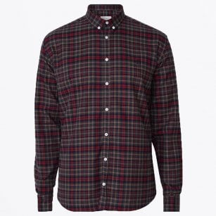 - Cotton Checked Shirt - Red
