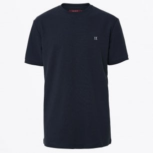 - Cotton Pique T-shirt - Navy