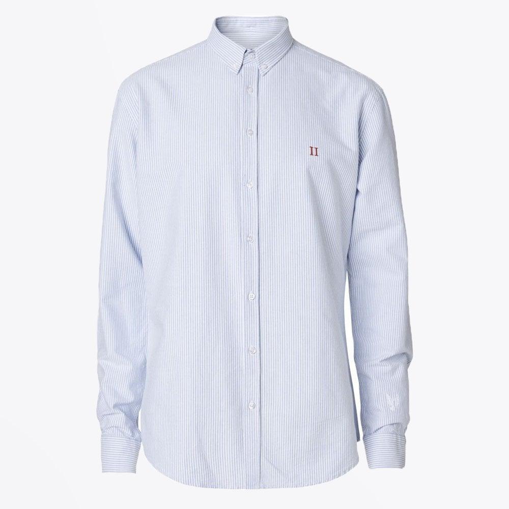 b8ea02e2dd326f Les Deux - Oxford Pinstripe Shirt - White/Light Blue - Mr & Mrs Stitch
