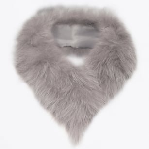 - Fox Fur Tail Clip - Grey