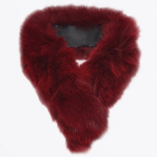 - Fox Fur Tail Clip - Wine